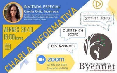 Charla Informativa del Colegio Byennèt de Copiapó.